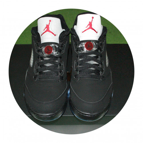 NIKE Air Jordan 5 Low「 Black Fire Red Metallic Silver 」喬登高爾夫球鞋
